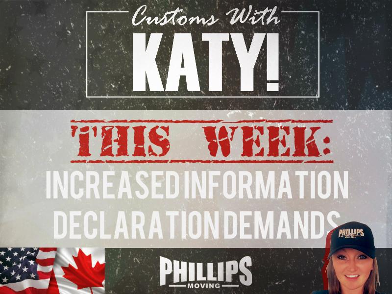 Increased Information Declaration Demands