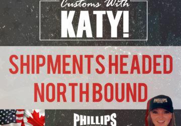 Shipments Heading North Bound