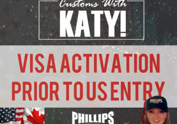 Visa Activation Prior to US Entry
