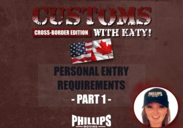 Personal Entry Requirements Part 1