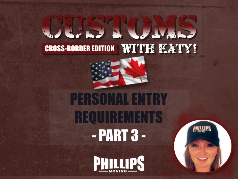 Personal Entry Requirements Part 3