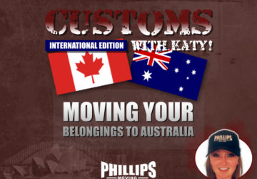 Moving Your Belongings to Australia